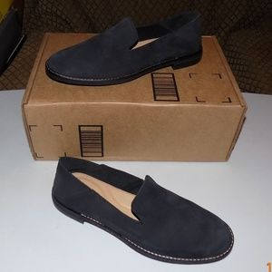 New Sperry soft  black suede leather slip ons
